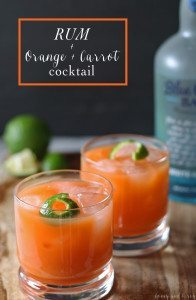 Rum Carrot Orange Cocktail | www.honeyandbirch #drink #cocktail #blogtender