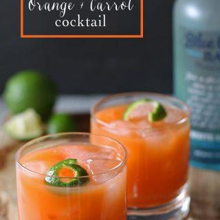 Rum Carrot Orange Cocktail | www.honeyandbirch #drink #cocktail #blogtender