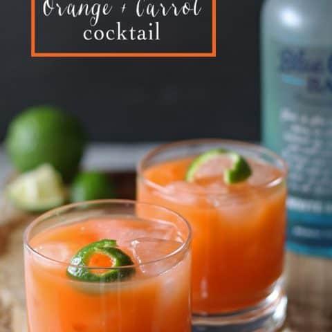 Rum + Orange + Carrot Cocktail