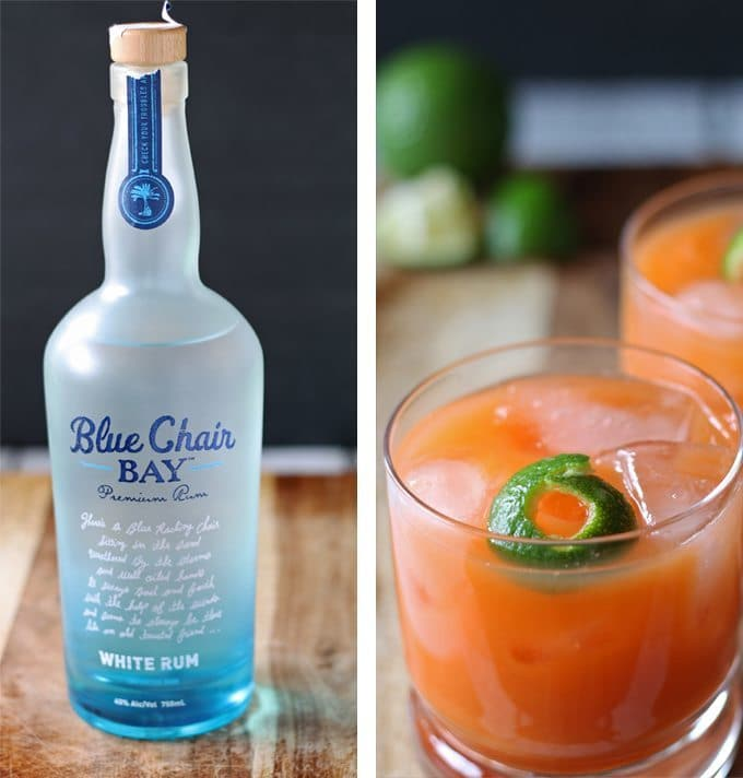 This rum orange carrot cocktail will give a splash of color to any party spread! It would be great for spring and summer parties! honeyandbirch.com