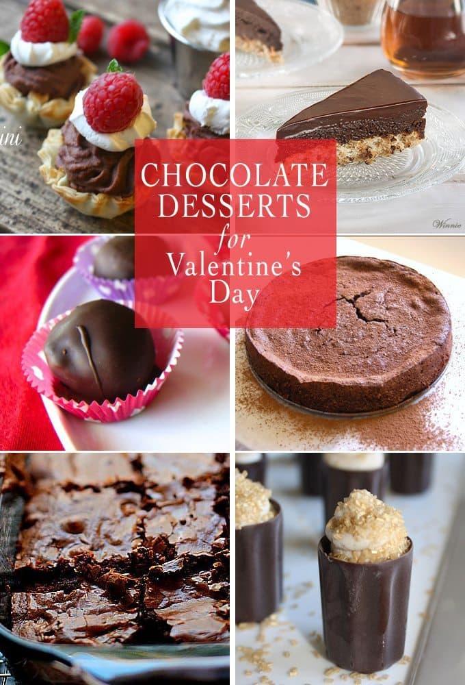 Chocolate Desserts for Valentine's Day | www.honeyandbirch.com | #vday #chocolate