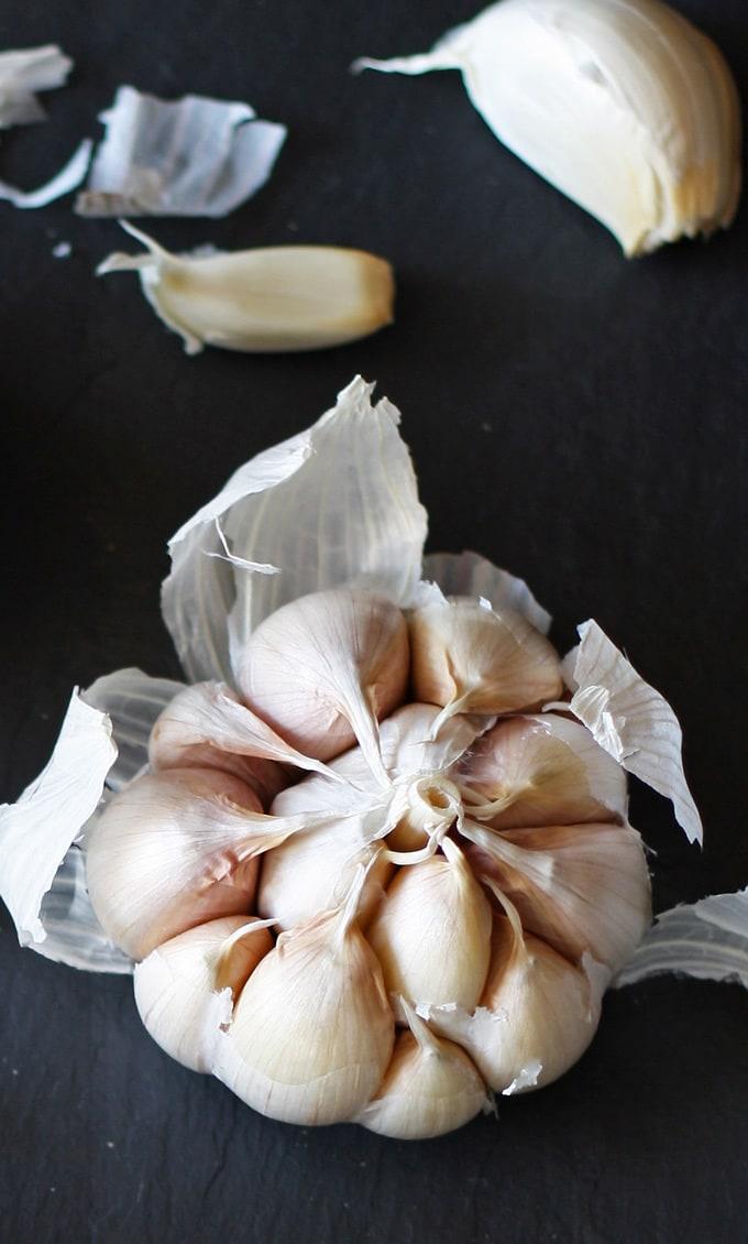 head of garlic