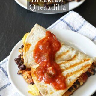 Easy Breakfast Quesadilla | www.honeyandbirch.com