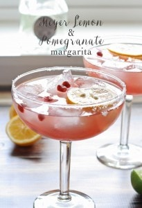 Meyer Lemon and Pomegranate Margarita #MargaritaDay | www.honeyandbirch.com @Casa_Noble