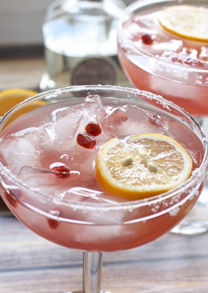 Meyer Lemon and Pomegranate Margarita #MargaritaDay | www.honeyandbirch.com @Casa_Noble