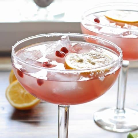 Meyer Lemon and Pomegranate Margarita