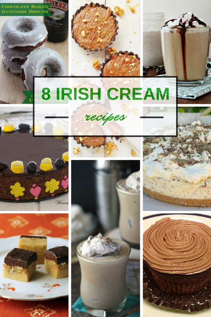 8 Recipes Using Irish Cream #StPatricksDay www.honeyandbirch.com