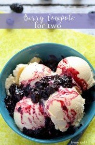If you're craving dessert but don't want leftovers, try this recipe for berry compote for two. It's perfect over ice cream and pie!