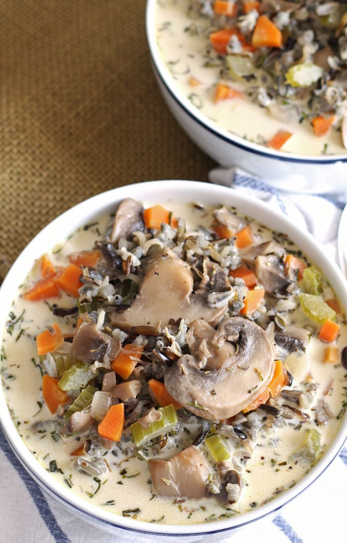 Cream of Mushroom Wild Rice Soup - easy and delicious!
