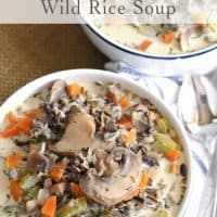 Cream of Mushroom Wild Rice Soup