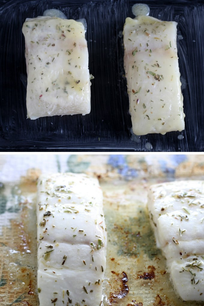 Easy Baked Alaskan Halibut - put this delicious fish dinner on the table in under 30 minutes! #WildAlaskaSeafood #CleverGirls #30minutemeal