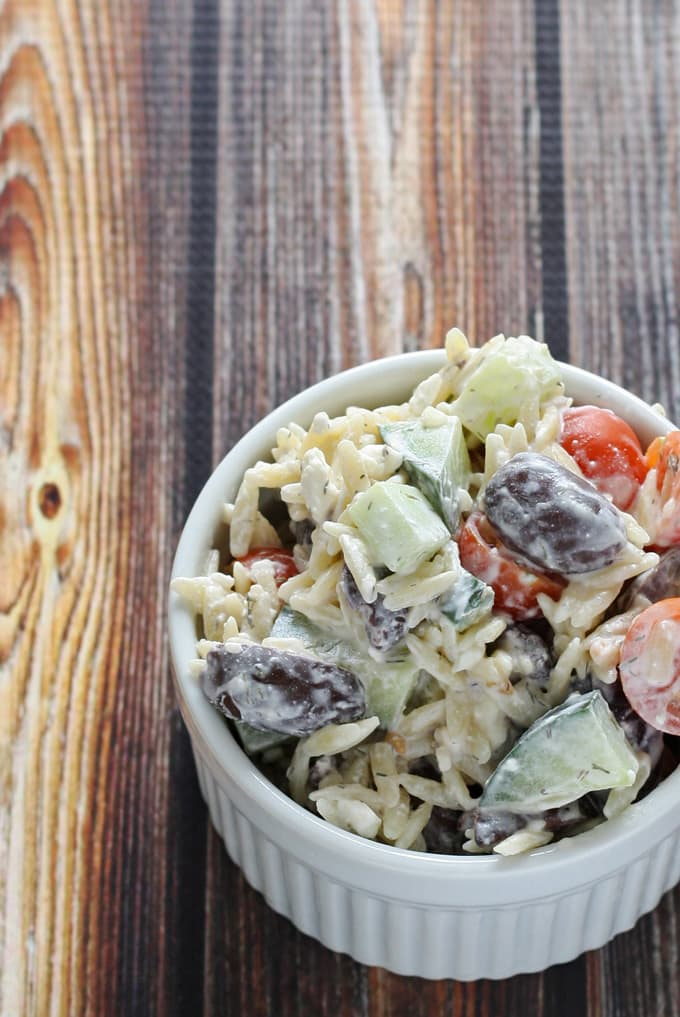 Greek Orzo Salad | www.honeyandbirch.com