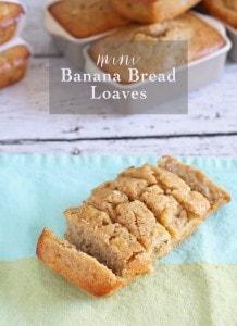 Mini Banana Bread Loaves | www.honeyandbirch.com