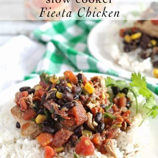Slow Cooker Fiesta Chicken is crowd friendly and perfect for college hoops parties! #JustAddRotel #Ad