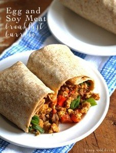 Egg Soy Meat Breakfast Burritos