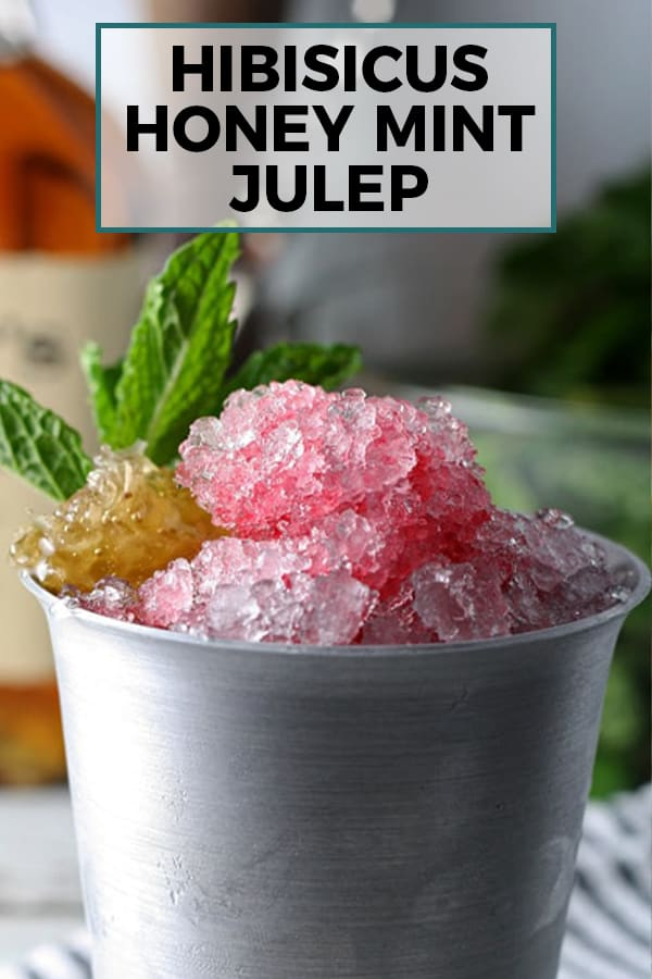 hibiscus honey mint julep pinterest image