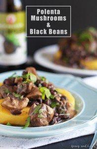 Polenta, Mushrooms and Black Beans | honeyandbirch.com | #dinner #vegetarian