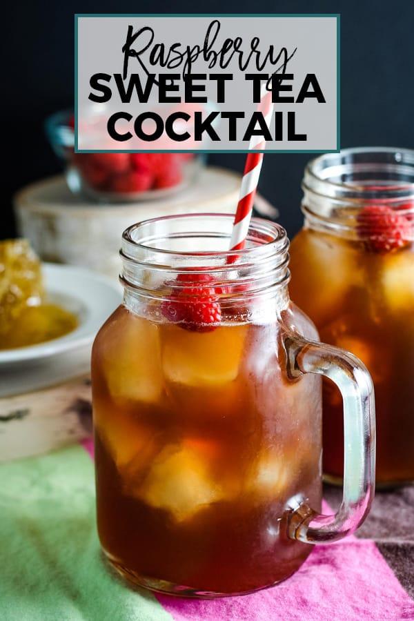 raspberry sweet tea cocktail pin