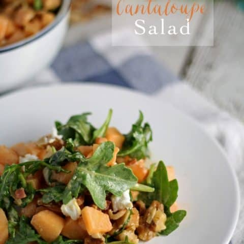 Savory Cantaloupe Salad | honeyandbirch.com