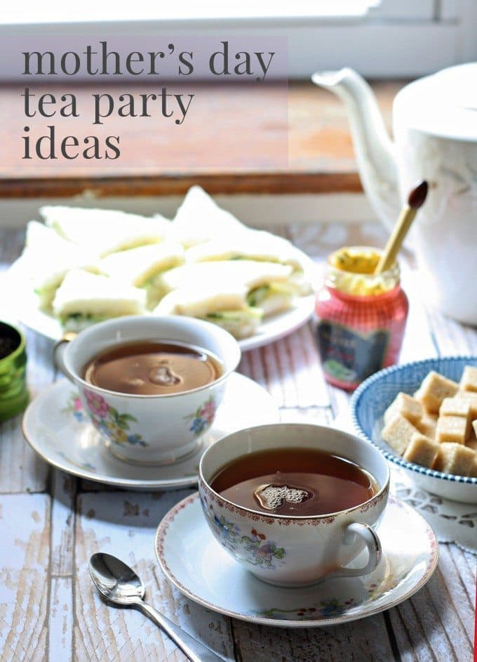 Mother's Day Tea Party Ideas | #entertaining | honeyandbirch.com