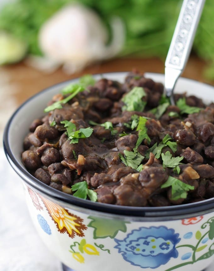 close up photo of black bean side dish