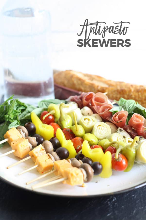 Antipasto skewers pinterest image
