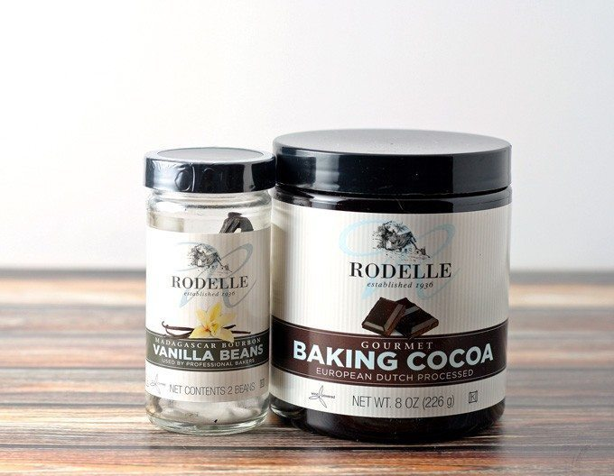 Rodelle vanilla beans and roselle baking cocoa
