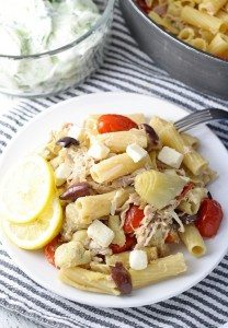 One Pot Mediterranean Chicken Feta Pasta