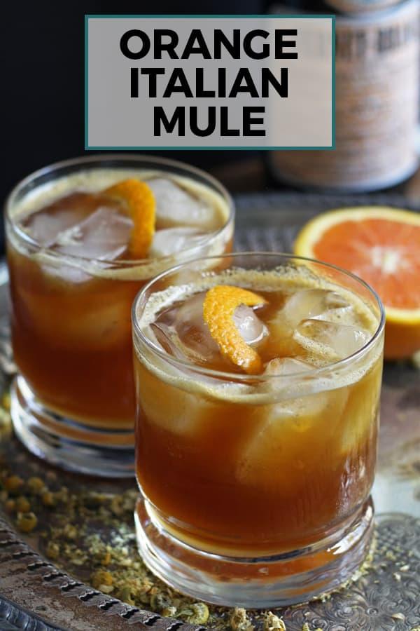 orange Italian mule pinterest image