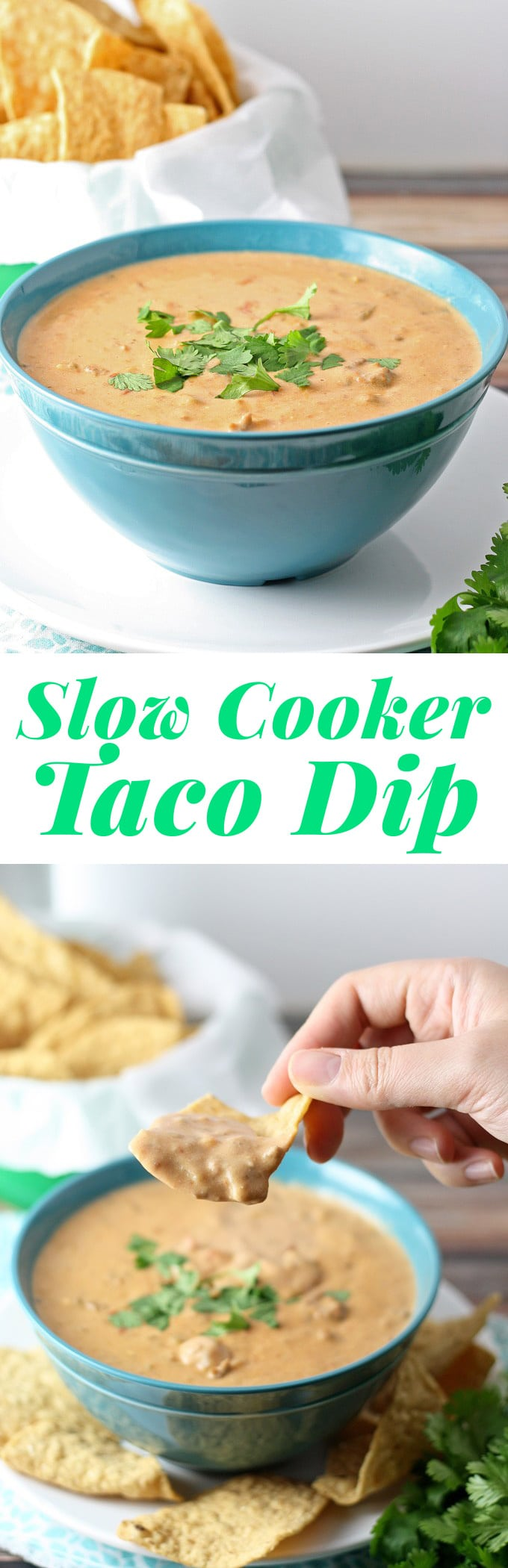 It's time to start thinking about football and tailgating! This recipe for slow cooker taco dip would be perfect for fall. | honeyandbirch.com
