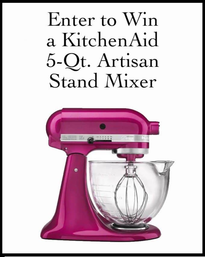 Enter to Win A KitchenAid 5-Qt. Artisan Stand Mixer | #giveaway #win