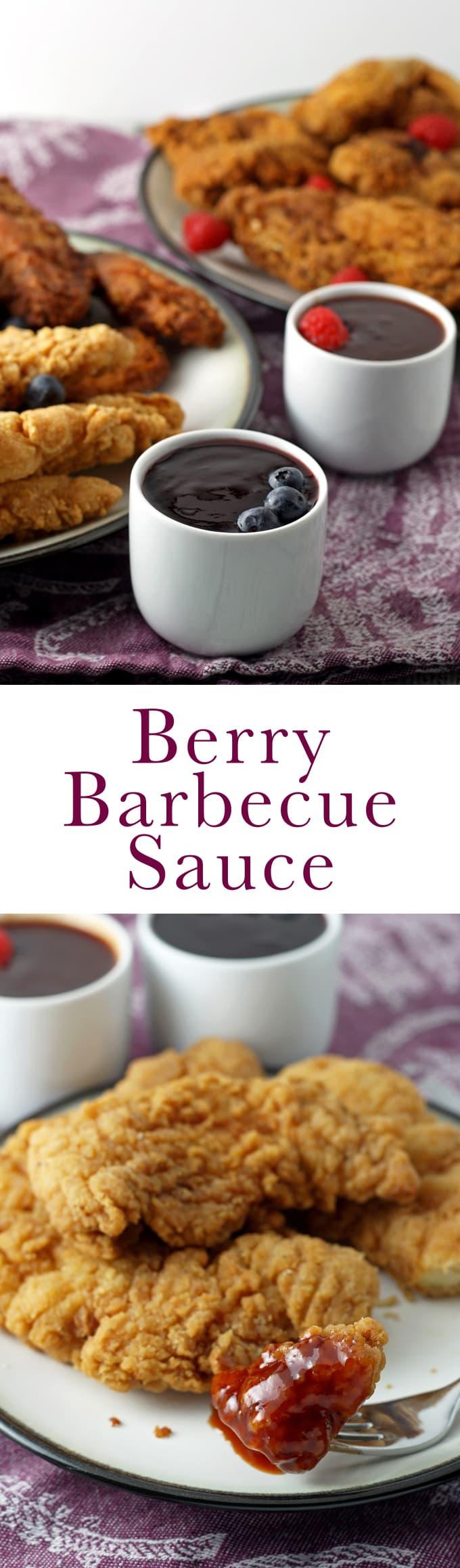 Berry Barbecue Sauce - perfect for dipping chicken! | honeyandbirch.com