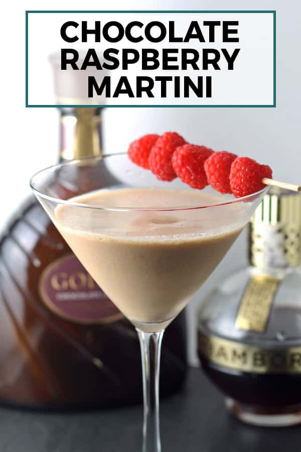 chocolate raspberry martini pin image