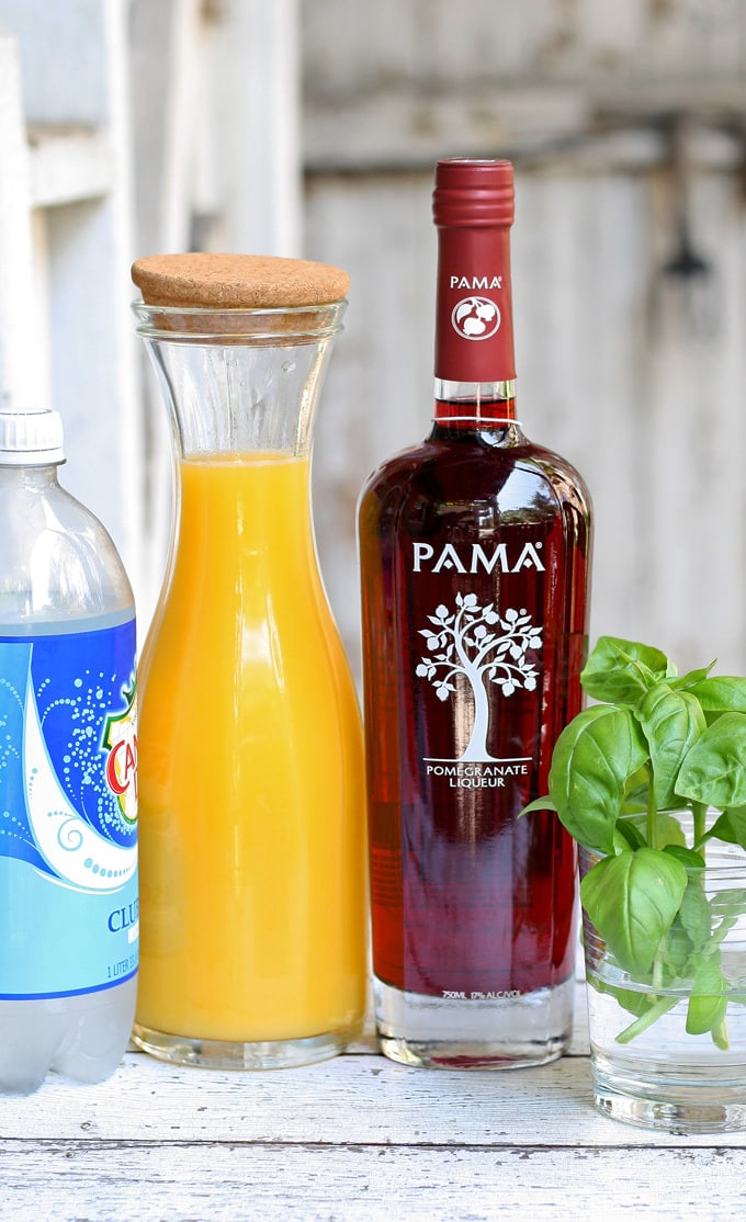 PAMA Sunrise Punch - perfect for summer parties! #PAMACelebrateSummer #sponsored | honeyandbirch.com
