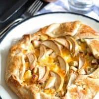 Apple Chicken Cheddar Galette