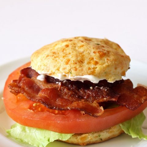 Cheddar Chive Biscuit BLT Sandwiches #BetterBiscuits