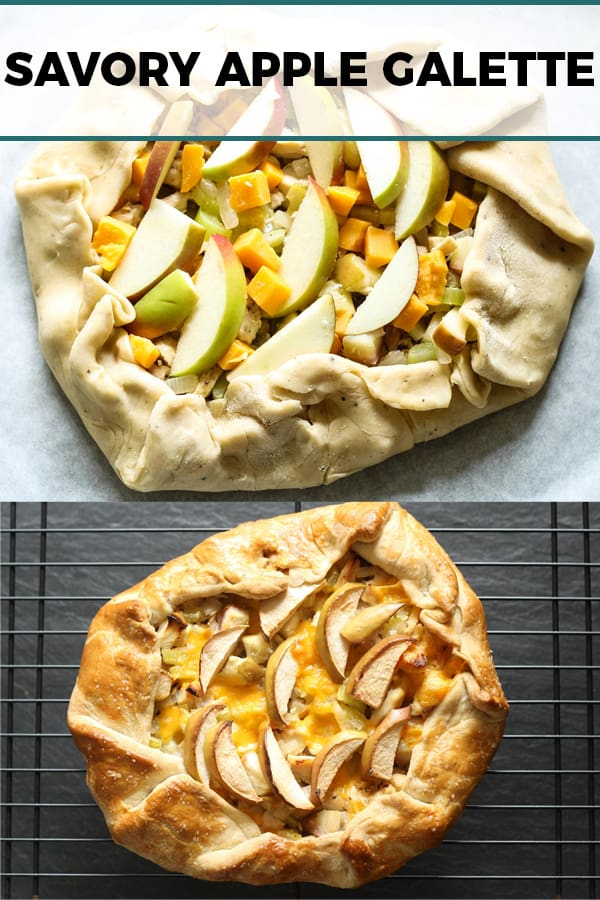 savory apple galette Pinterest image