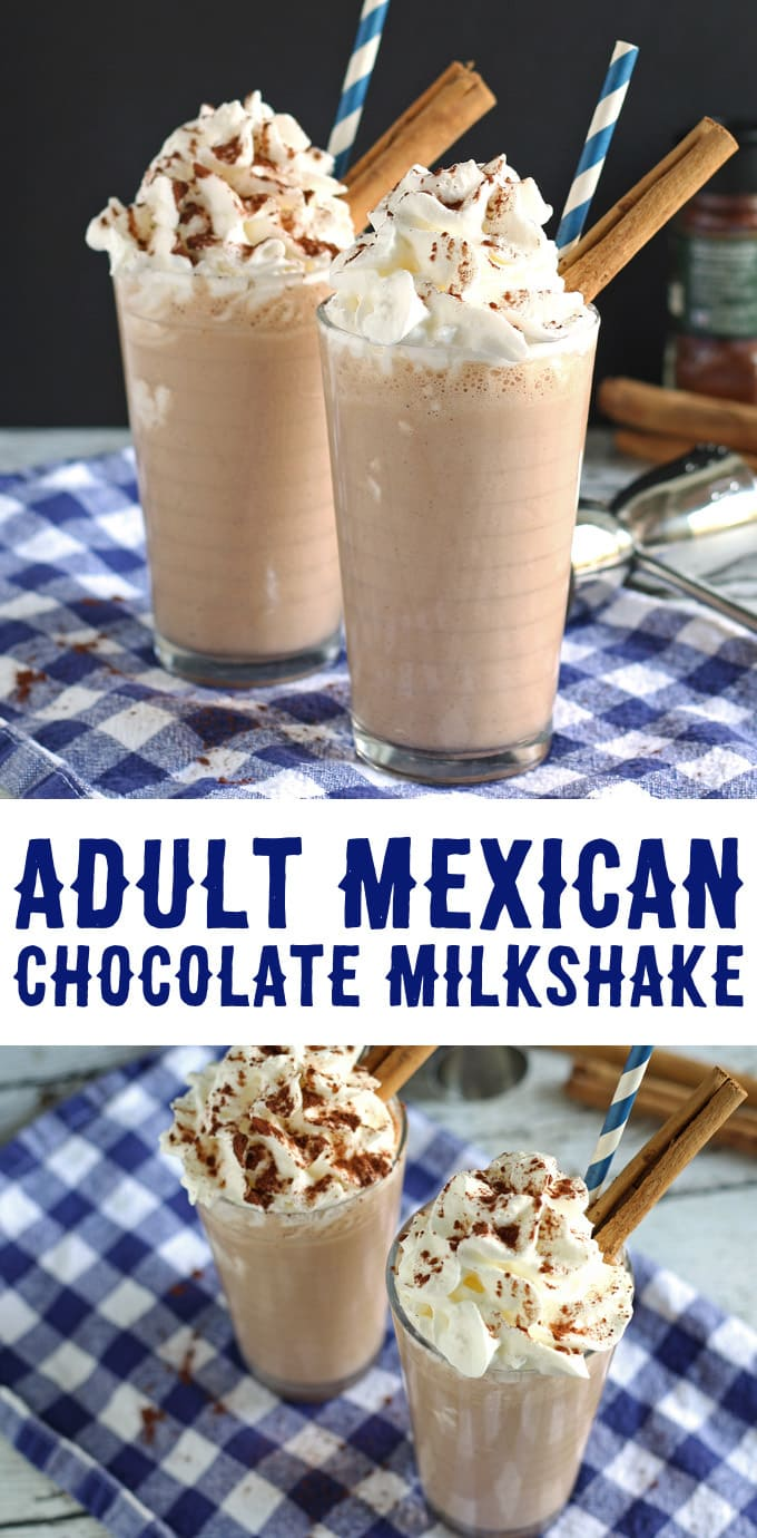 Adult Mexican Chocolate Milkshake | honeyandbirch.com #cocktail