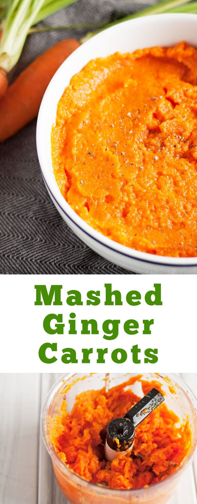 Mashed Ginger Carrots - the perfect fall side dish! This recipe makes two portions - double or triple it if you are cooking for a dinner party! | honeyandbirch.com