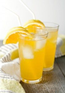 Orange Lemonade with Honey Ginger Simple Syrup