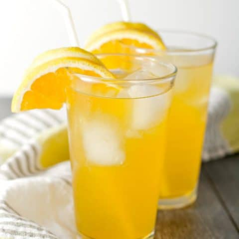 Orange Lemonade with Honey Ginger Simple Syrup