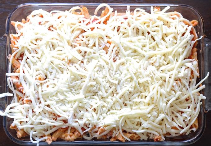 Three Cheese Penne Pasta Bake   honeyandbirch.com