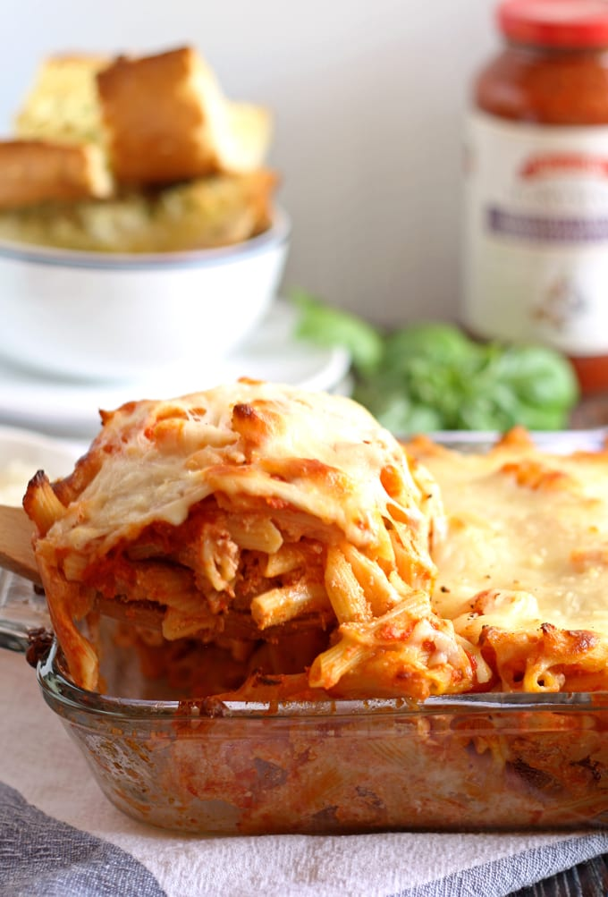 Three Cheese Penne Pasta Bake | honeyandbirch.com