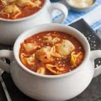 3 Ingredient Tomato Tortellini Soup