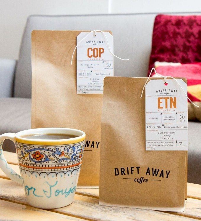 Driftaway Coffee: How Name.Kitchen can help make your online business stand out! | honeyandbirch.com #sponsored