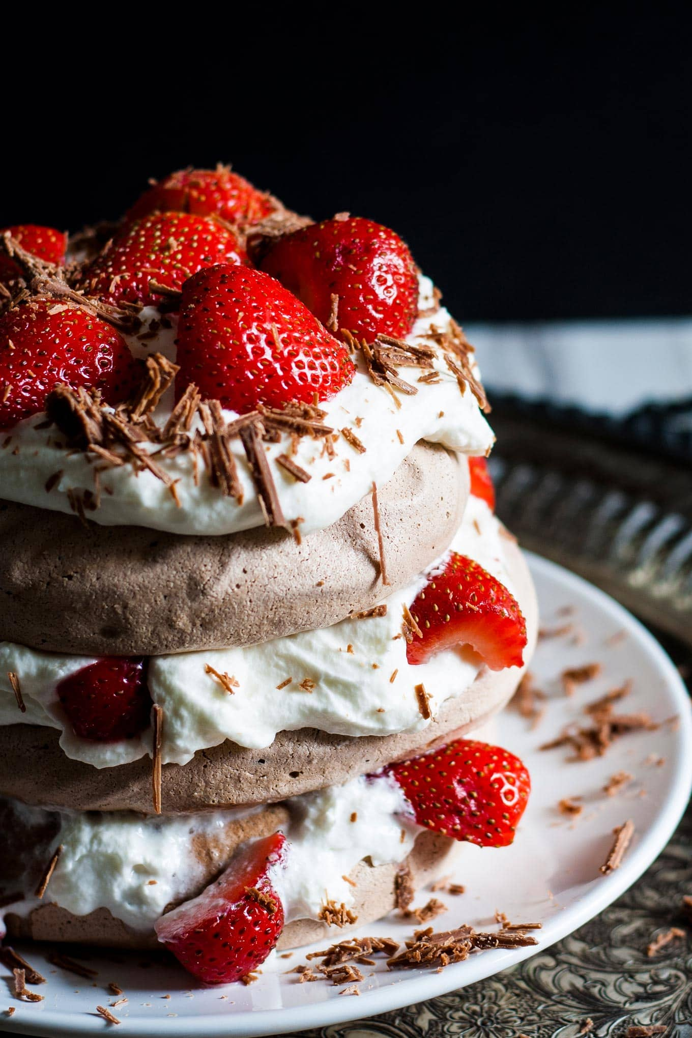 chocolate pavlova cake image