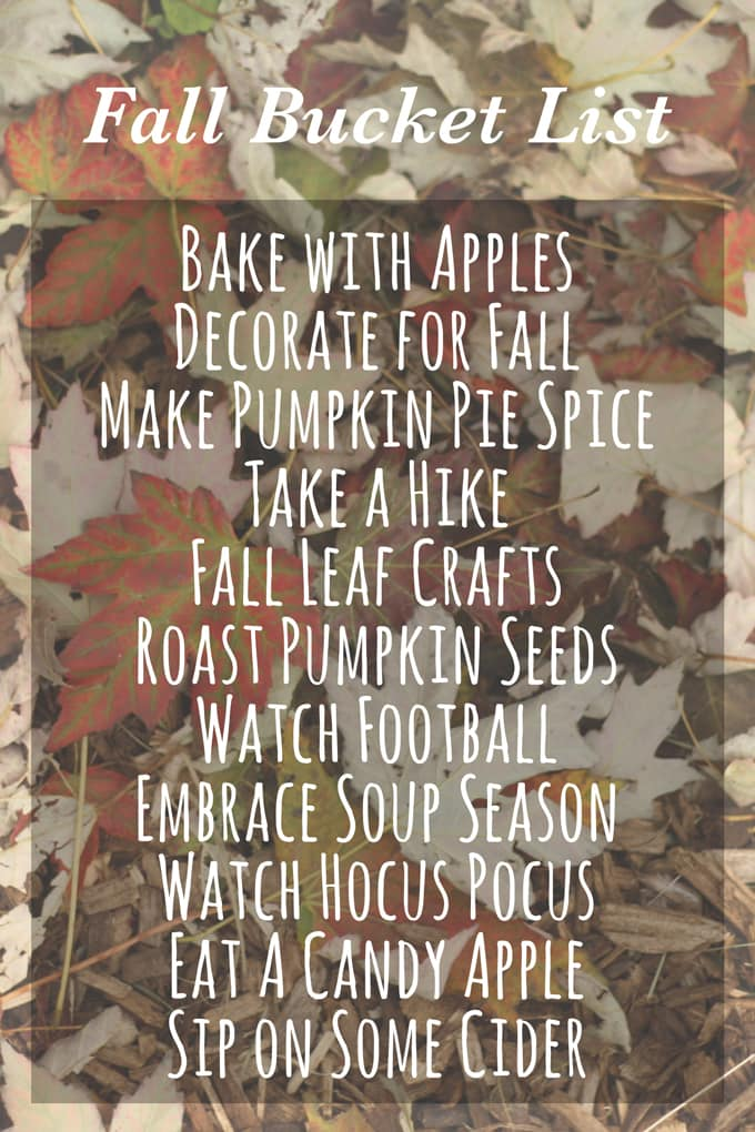 Fall Bucket List | honeyandbirch.com