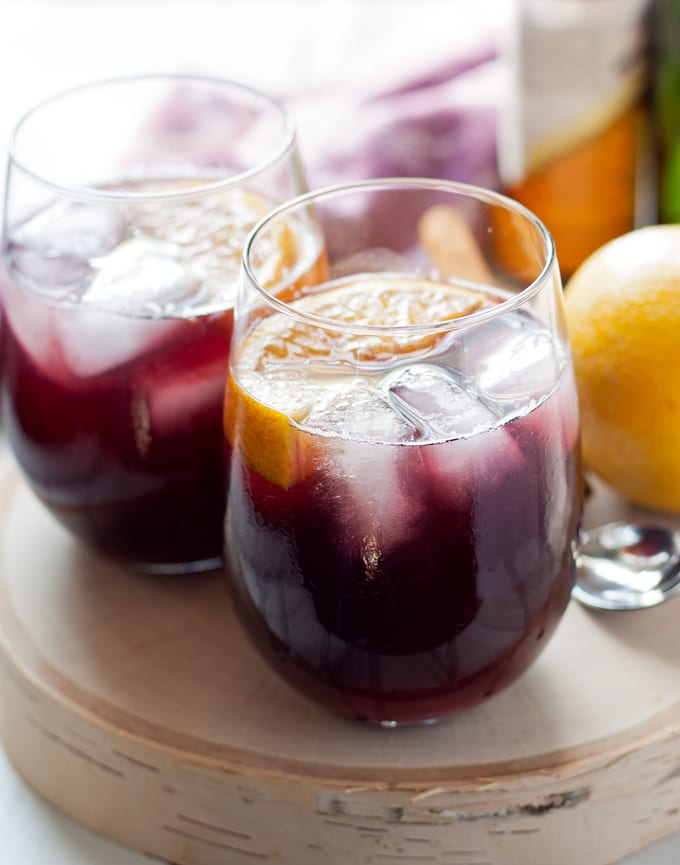 Orange Red Wine Spritzers, shared by Honey & Birch at The Chicken Chick's Clever Chicks Blog Hop