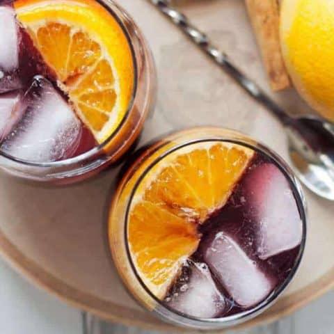 Orange Red Wine Spritzer