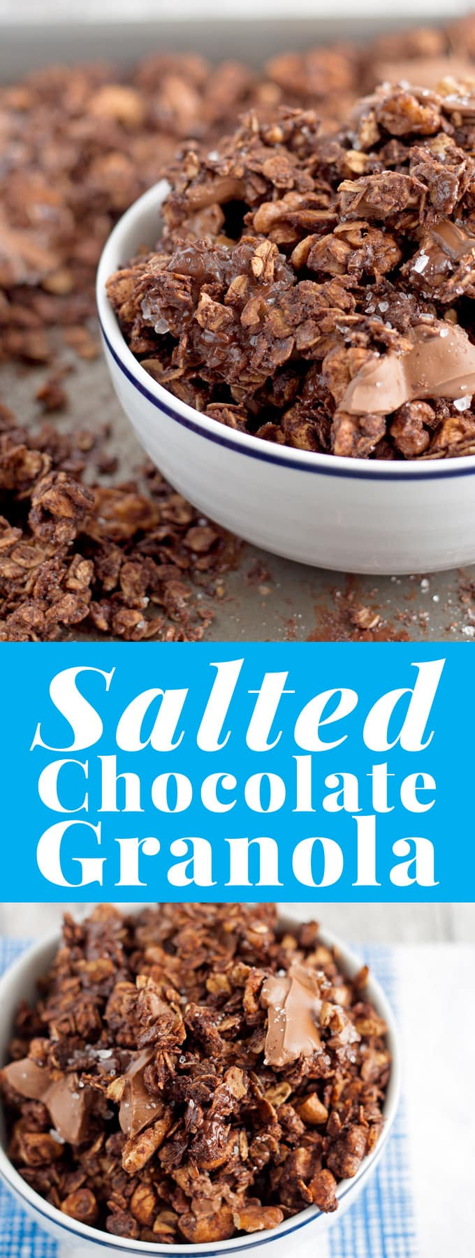 Looking for a fun dessert or a sweet snack? Try this salted chocolate granola! | honeyandbirch.com